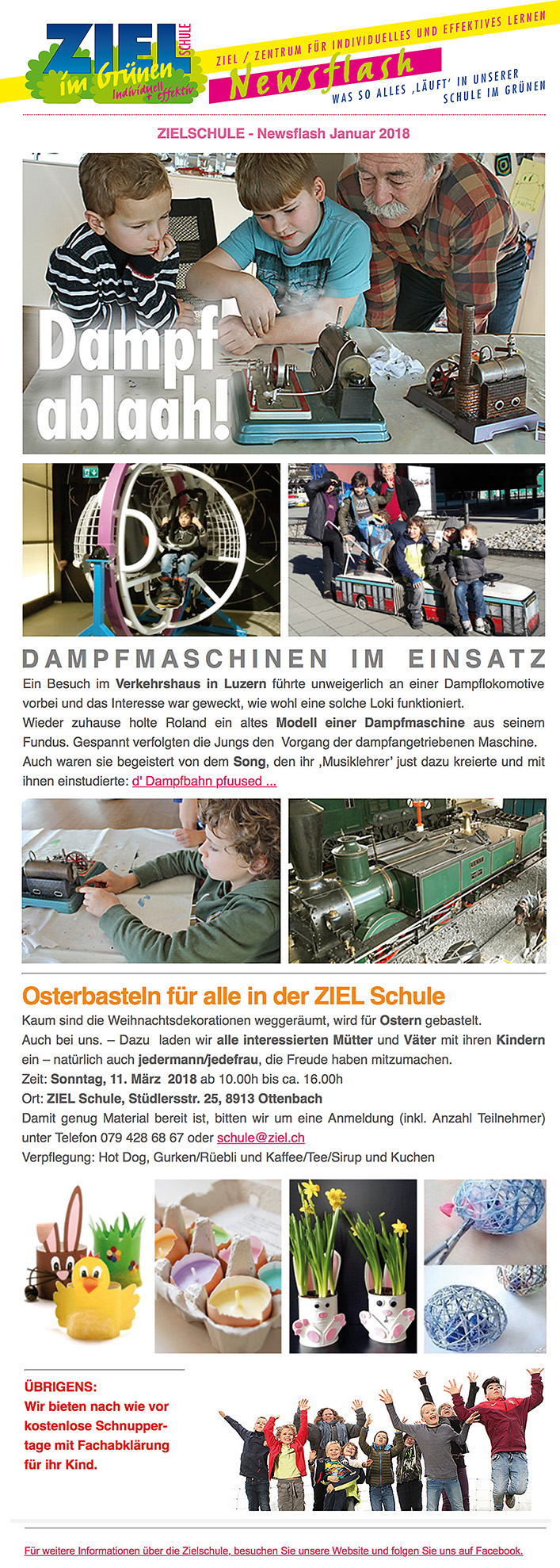 ZIEL Newsflash 2018-1